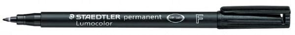 Viltstift Staedtler Lumocolor 318 permanent F zwart
