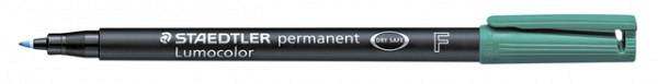 Viltstift Staedtler Lumocolor 318 permanent F groen