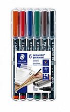 Viltstift Staedtler Lumocolor 317 permanent M set à 6 stuks
