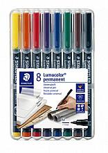 Viltstift Staedtler Lumocolor 317 permanent M set à 8 stuks
