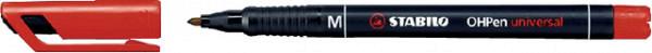 Viltstift STABILO OHpen permanent 843/40 rond 1mm rood