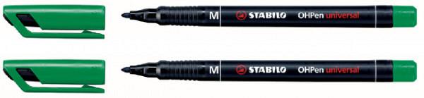 Viltstift STABILO OHpen permanent 843/36 rond 1mm groen