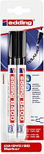 Cd marker edding 8400 rond  0.5-1.0mm blister à 2 stuks zwart
