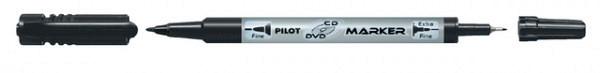 Cd marker PILOT twin F en EF 0.7mm en 0.4mm zwart