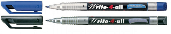 Viltstift STABILO Write-4-All 156/41 permanent blauw fijn