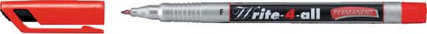 Viltstift STABILO Write-4-All 156/40 permanent rood fijn