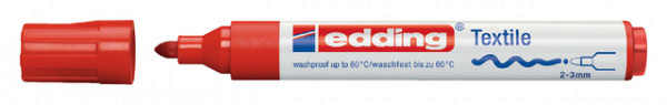 Viltstift edding 4500 textiel rond rood 2-3mm