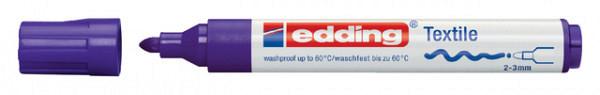 Viltstift edding 4500 textiel rond blauw 2-3mm