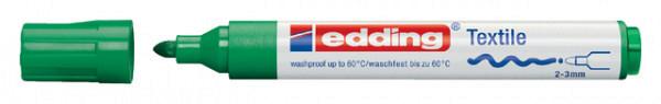 Viltstift edding 4500 textiel rond groen 2-3mm