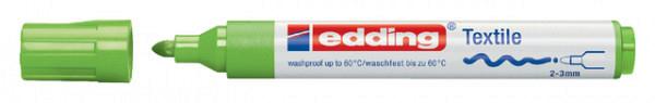 Viltstift edding 4500 textiel rond lichtgroen 2-3mm