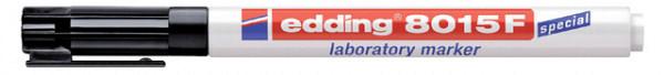Viltstift edding 8015 laboratory ronde punt 0.75mm EF zwart