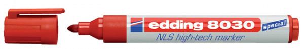 Viltstift edding 8030 NLS High-Tech marker 1.5-3mm rood