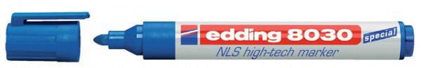 Viltstift edding 8030 NLS High-Tech marker 1.5-3mm blauw