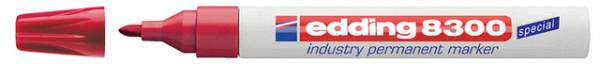 Viltstift edding 8300 industrie  rond rood 1.5-3mm