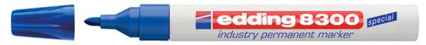 Viltstift edding 8300 industrie rond blauw 1.5-3mm
