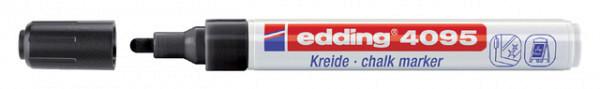Krijtstift edding 4095 rond zwart 2-3mm