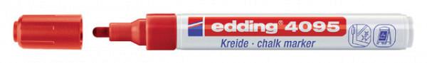 Krijtstift edding 4095 rond rood 2-3mm