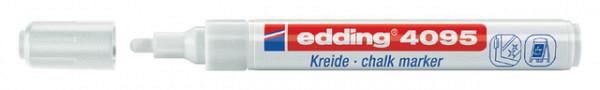 Krijtstift  edding 4095 rond wit 2-3mm