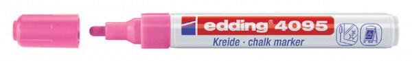 Krijtstift edding 4095 rond neon roze 2-3mm