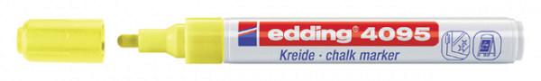 Krijtstift edding 4095 rond neon geel 2-3mm