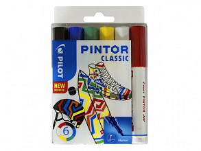 Verfstift Pilot Pintor classic 1.0mm ass etui à 6 stuks assorti