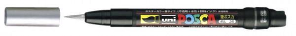 Brushverfstift Posca PCF350 zilver
