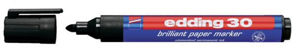 Viltstift edding 30 brilliant rond zwart 1,5-3mm
