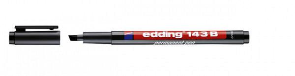 Viltstift edding 143 beitel 1-3mm zwart