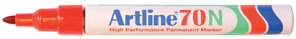 Viltstift Artline 70 rond 1.5mm rood