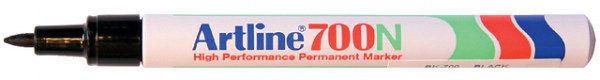 Viltstift Artline 700 rond 0.7mm zwart