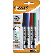 Viltstift Bic Ecolutions rond 1.1mm blister à 4 kleuren