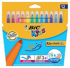 Viltstift Bic 219 kid couleur 1131 assorti breed etui à 12st