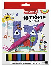Viltstift Bruynzeel Kids Triple blister à 10 stuks assorti