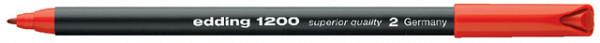 Fineliner edding 1200 rood 0.5-1mm