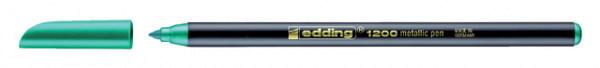 Fineliner edding 1200 metallic groen 1mm