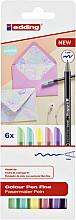 Fineliner edding 1200 pastel assorti 0.5-1mm blister à 6 stuks