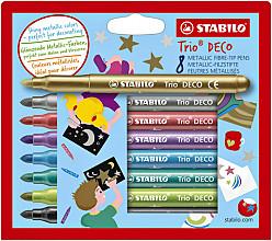 Viltstift STABILO Trio deco metallic etui  à 8  kleuren