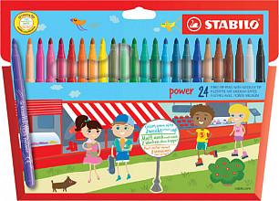 Viltstift STABILO Power 280 etui à 24 kleuren