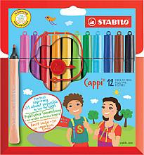 Viltstift STABILO Cappi 168 etui à 12 kleuren
