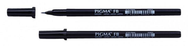 Brushpen Sakura Pigma fijn zwart