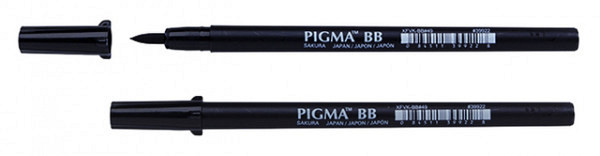 Brushpen Sakura Pigma breed zwart