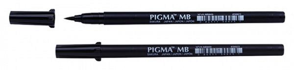 Brushpen Sakura Pigma medium zwart
