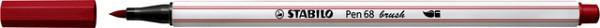 Brushstift STABILO Pen 568/50 donkerrood