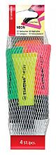 Markeerstift STABILO 72/4-1 neon netje à 4 kleuren