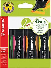Markeerstift STABILO Green Boss 6070/4 etui à 4 kleuren