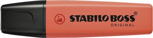 Markeerstift STABILO Boss Original 70/140 pastel zacht koraal rood