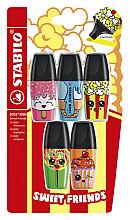 Markeerstift STABILO Boss mini sweet friends blister à 5 kleuren