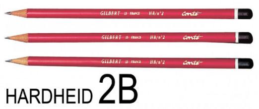Potlood Bic Gilbert 33 rond 2B