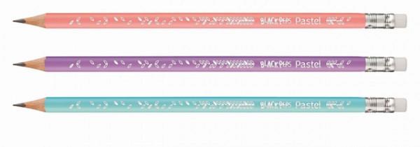 Potlood Maped Black'peps pastel HB met gum display-koker à 72 stuks assorti