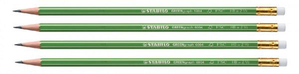 Potlood STABILO Greengraph 6004 HB met gumtip